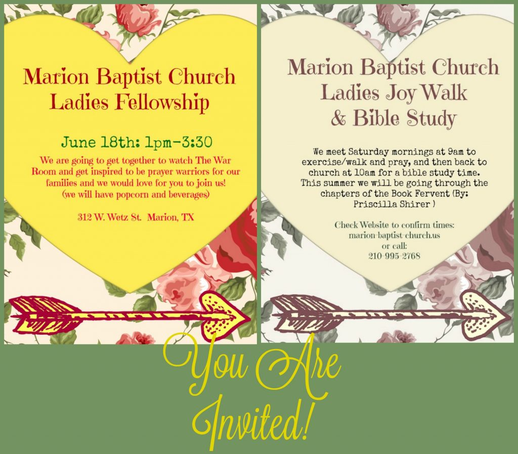 Announcements marion baptist church june mbc invite kristyandbryce Image collections