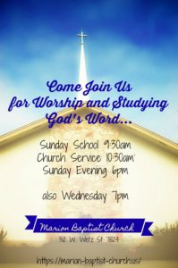 Announcements – Page 2 – Marion Baptist Church